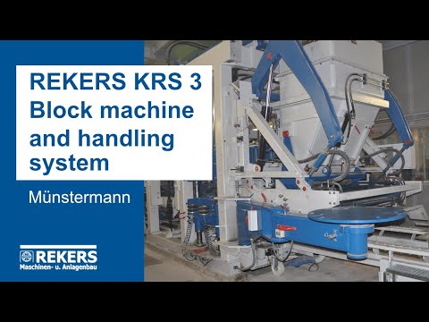 REKERS KRS3 Block Machine and Handling System (Muenstermann)