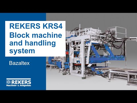 REKERS KRS4 Block Machine and Handling System (Bazaltex)