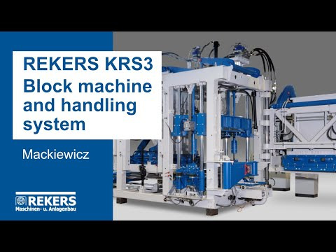 REKERS KRS3 Block Machine and Handling System (Mackiewicz)